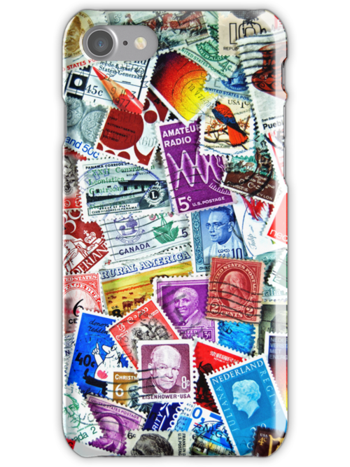 Stamp Collection (iPhone case) by Maria Dryfhout