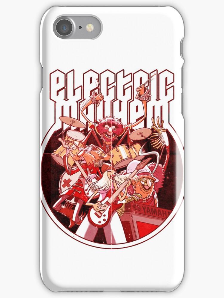 Electric Mayhem iPhone Case by Douglas Holgate