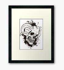 Horned Skull Framed Print