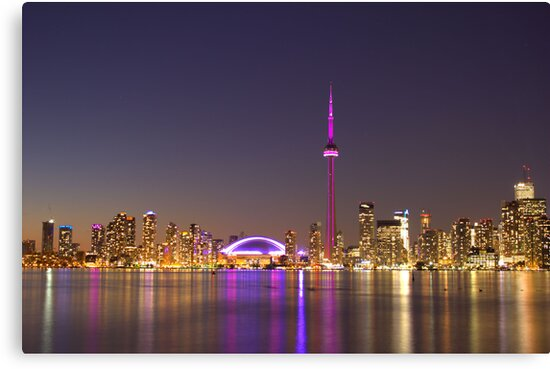 "CN Tower Turned Pink For Breast Cancer Month ""IN HONOR"" by NewfieKeith"