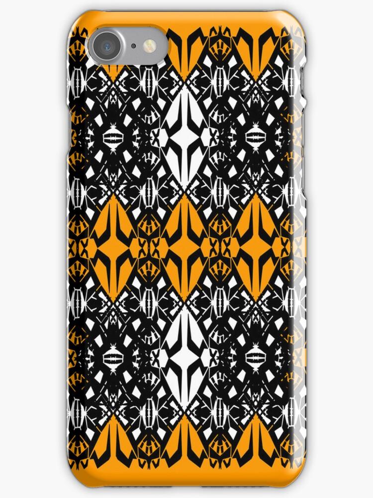 Orange tech pattern by Cranemann