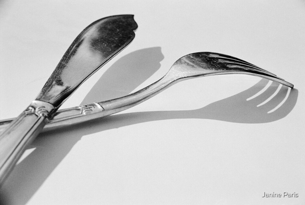 knife & fork by Janine Paris