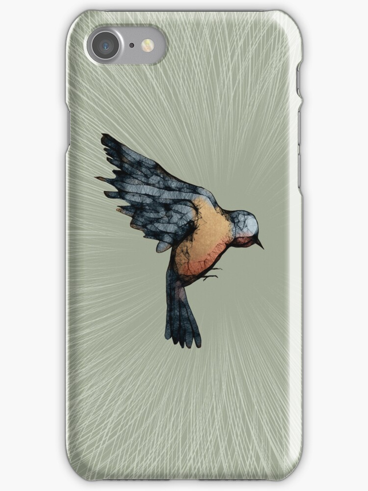 Scribbler Bird Iphone Case by Sarah  Mac