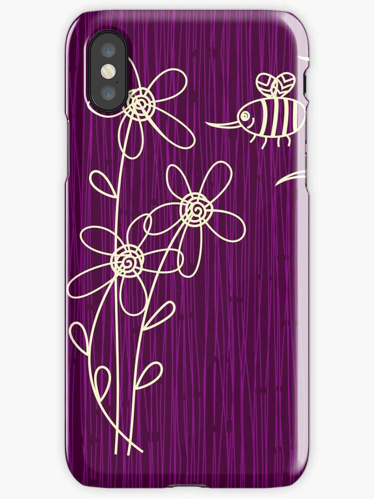 Purple Flowers iPhone Case by Anastasiia Kucherenko