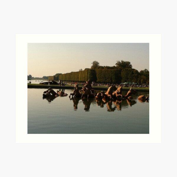 Versailles water 2 Art Print