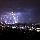 Mt Dandenong Lightning V2 Uncropped.  by Ben  Cadwallader