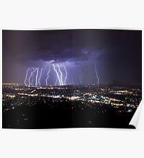 Mt Dandenong Lightning V2 Uncropped.  Poster