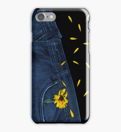 """Blue Jeans and Calendula"" - phone iPhone Case/Skin"