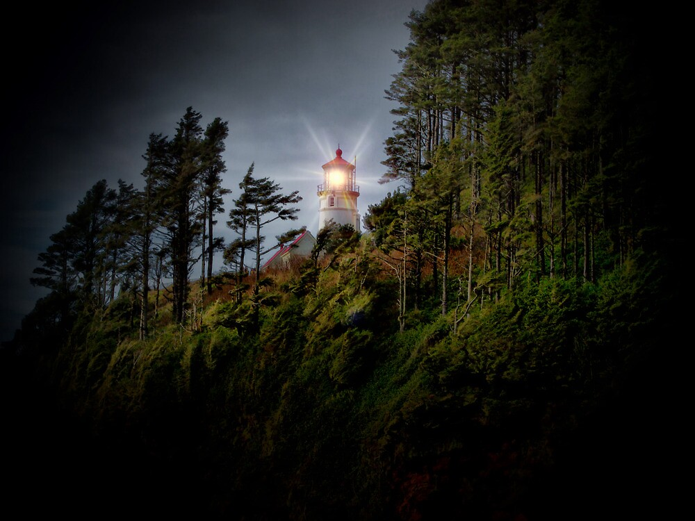 Heceta Head Lighthouse by Charles & Patricia   Harkins ~ Picture Oregon