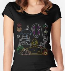 Camiseta entallada de cuello redondo Ghibli mix v2