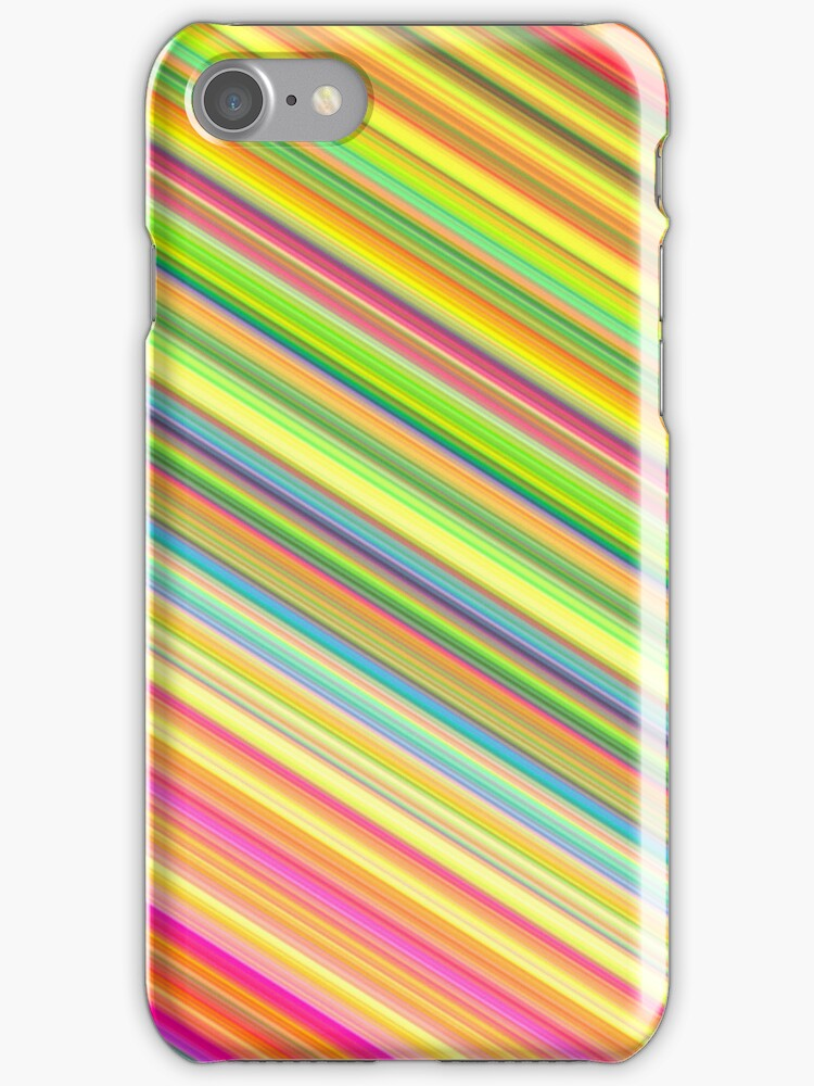 Bubble Gum Stripes iphone case 4S & 4 by red addiction