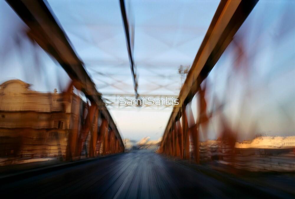 Road bridge (blurred motion) by Sami Sarkis