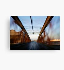 Road bridge (blurred motion) Canvas Print