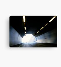 Traffic in road tunnel (blurred motion) Canvas Print