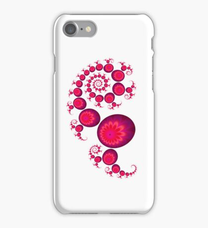 Pink paisley for white Iphone 4 and 4s iPhone Case/Skin