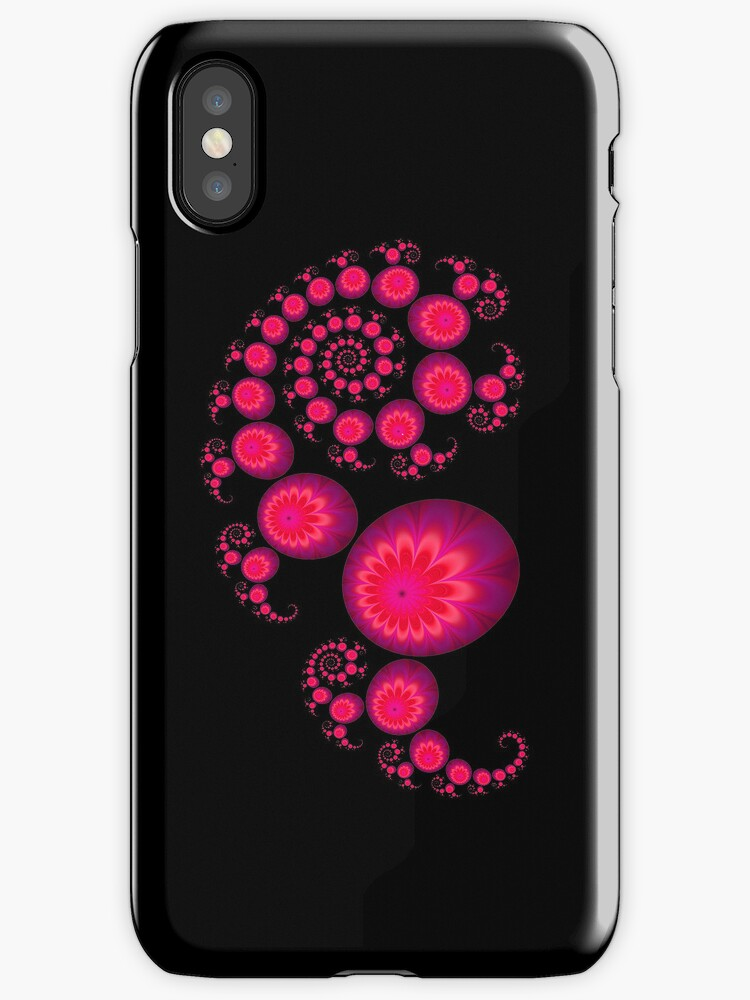 Pretty pink paisley Iphone cover for black Iphone by inkedsandra
