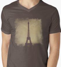 Vintage Eiffel Tower Men's V-Neck T-Shirt