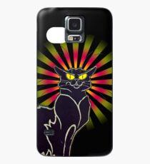 Le Chat Noir Poster iPhone Case Hülle & Klebefolie für Samsung Galaxy