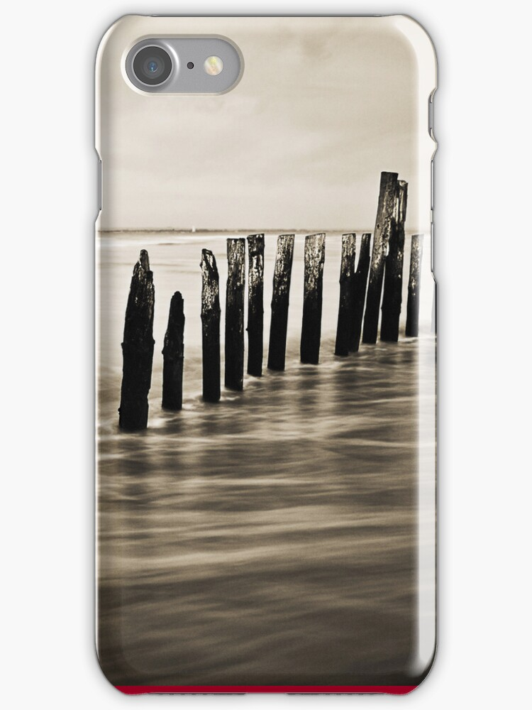 Wooden Poles - iPhone Case by Leon Ritchie