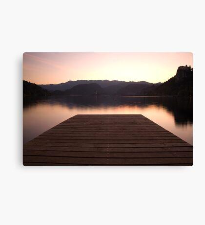 Lake Bled at sunset Canvas Print