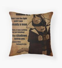 Bane's Cat Rises! Throw Pillow