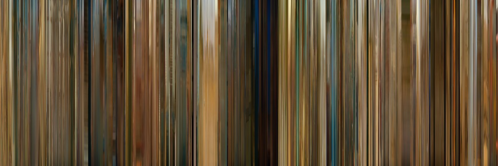 Moviebarcode: The Darjeeling Limited (2007) by moviebarcode