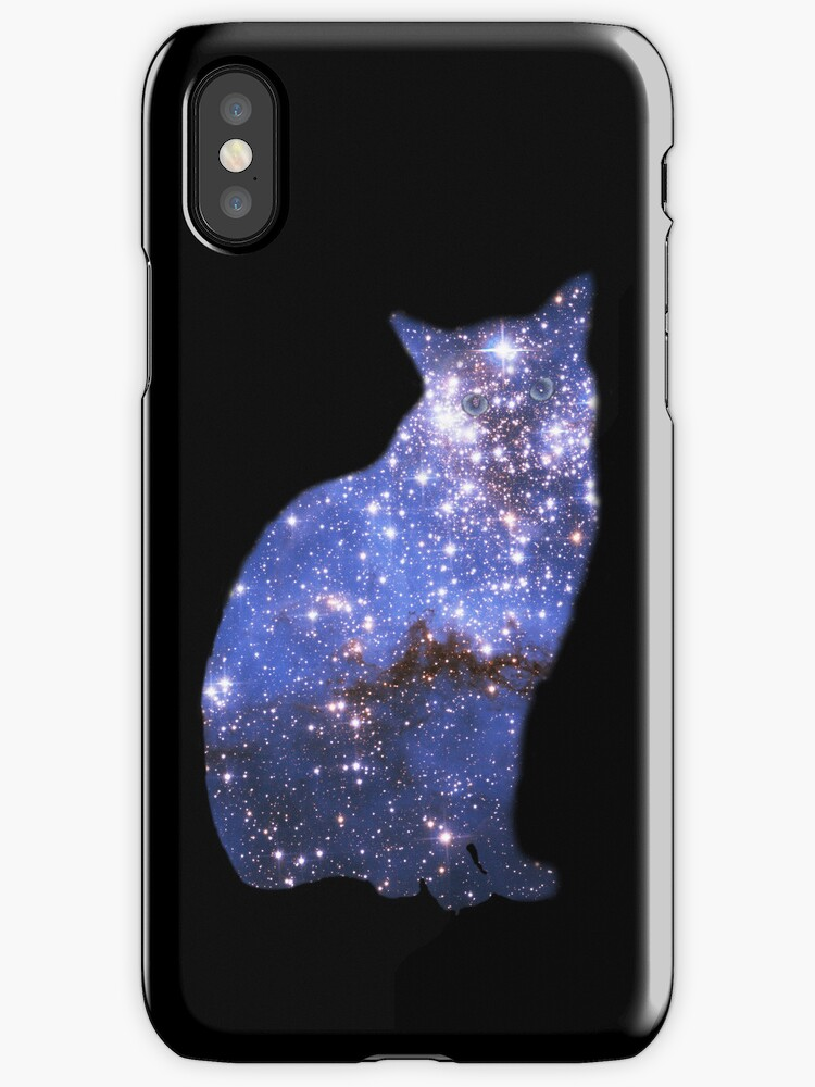 Star Cat Zafira - iPhone case by Odille Esmonde-Morgan