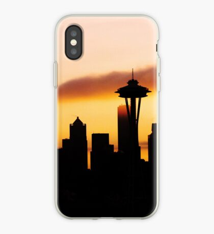 A Foggy Morning In Seattle iPhone case. iPhone Case