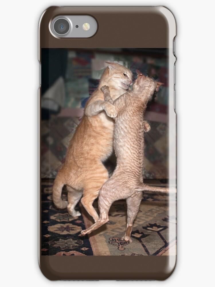 The Dancing Cats - iPhone case by Odille Esmonde-Morgan