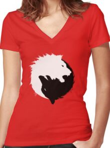 The Wolf and The Lion Women's Fitted V-Neck T-Shirt