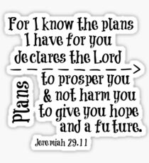 For I know the Plans Bible Verse Sticker