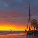 Sunrise on Port Washington harbor by Sue Justice