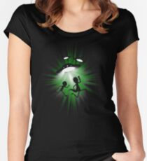 Run morty .. barpppp !! run ! Women's Fitted Scoop T-Shirt
