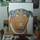 Painting Buster The Dog by Bearie23