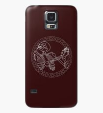 Dancing Skull Bordeaux/White Case/Skin for Samsung Galaxy