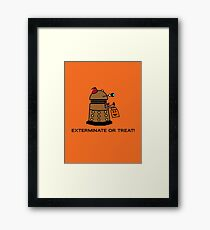 Exterminate or Treat - Full Color Framed Print