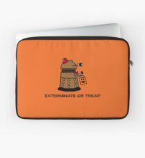 Exterminate or Treat - Full Color Laptop Sleeve