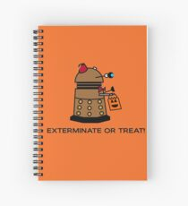 Exterminate or Treat - Full Color Spiral Notebook