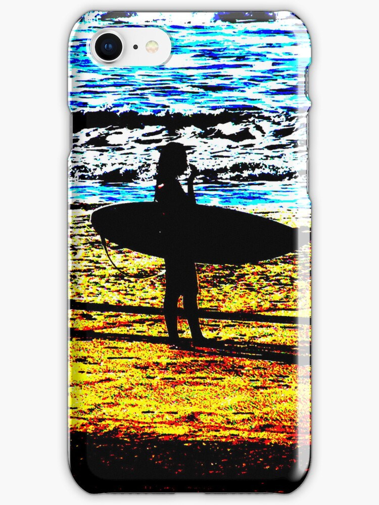 Surfing iPhone case by andytechie