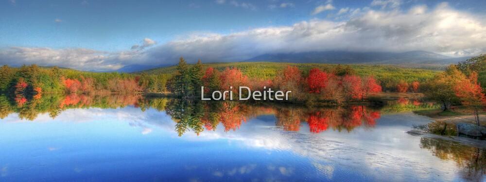 Autumn Panorama - Mt. Katahdin by Lori Deiter