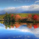 Autumn Panorama - Mt. Katahdin by Lori Deiter
