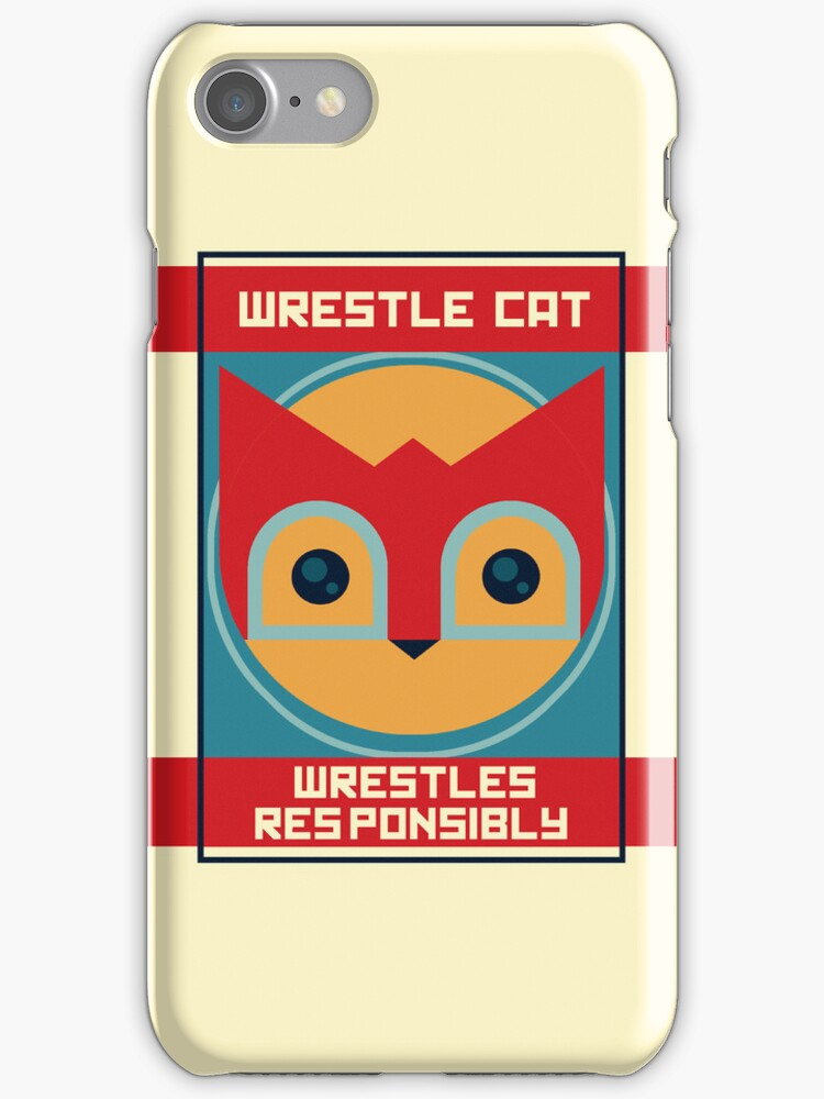 Wrestle Cat wrestles responsibly by Ive Sorocuk