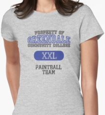 Greendale paintball team Women's Fitted T-Shirt