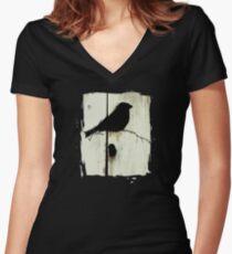 Early Bird  - JUSTART ©  Women's Fitted V-Neck T-Shirt