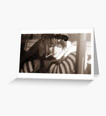Matt Death note flower crown  Greeting Card