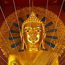 Buddha image, Wat Phra Sing, Chiang Mai, Thailand by John Spies