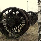 Railway Wheels By Silver Birch by farmbrough