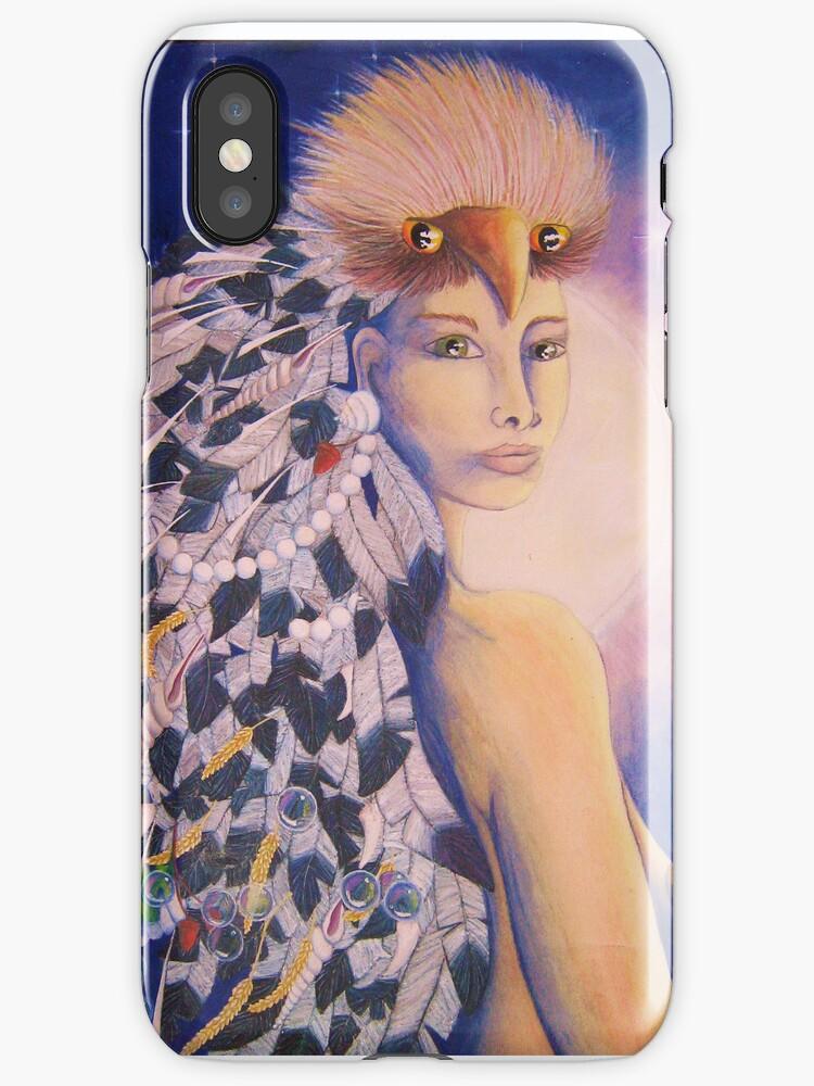 moonpriestess phone case by Kestrelle
