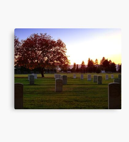 Heroes' Rest Canvas Print