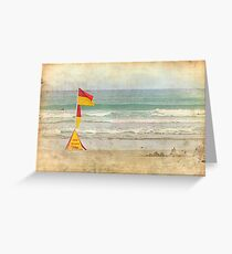 Swim between the Flags. Greeting Card